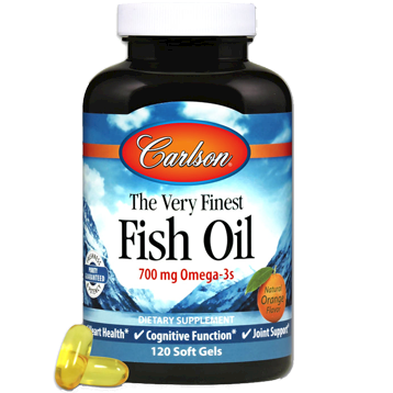 Carlson Labs Very Finest Fish Oil Orange 120 gels COF12