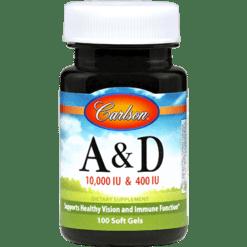 Carlson Labs Vitamin A amp D 100 gels VI220