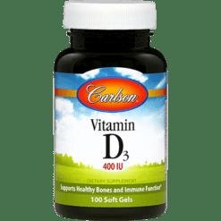 Carlson Labs Vitamin D 400 IU 100 gels VIT92