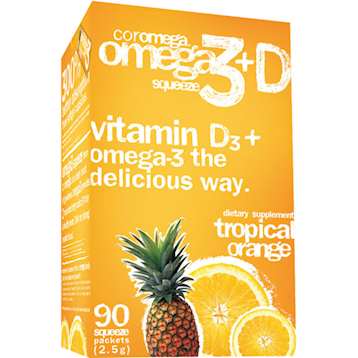 Coromega Tropical Orange amp Vitamin D3 90 packets C45226
