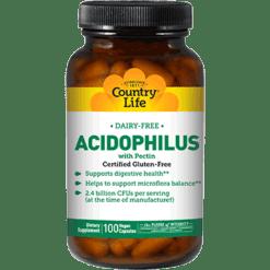 Country Life Acidophilus w Pectin 100 vegcaps C30515