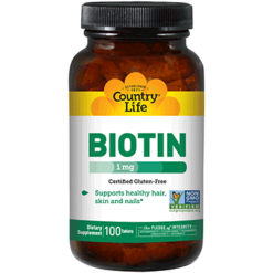 Country Life Biotin 1000 mcg 100 tabs C65036