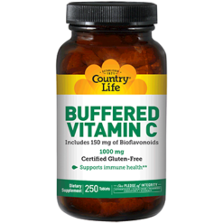 Country Life Buffered Vitamin C 1000 mg 250 tabs C70641