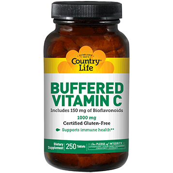 Country Life Buffered Vitamin C 1000 mg 250 tabs C70641