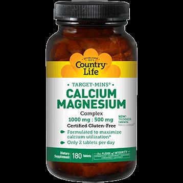 Country Life Calcium Magnesium Complx 180 tabs C24811