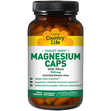 Country Life Magnesium Caps 300 mg 60 vegcaps C24743