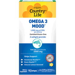 Country Life Omega 3 Mood 90 gels C41207