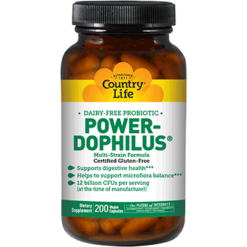 Country Life Power Dophilus Milk Free 200 vegcaps C30577