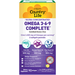 Country Life Ultra Omega 3 6 9 Complete 90 gels C41009