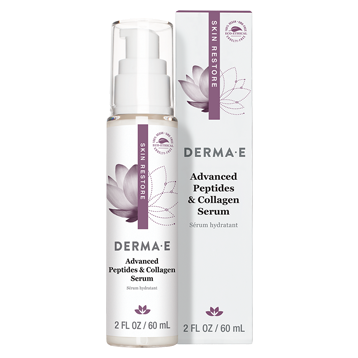 DERMA E Natural Bodycare Adv Peptides amp Collagen Serum 2 oz D07251