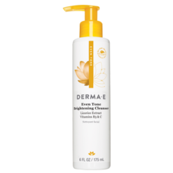 DERMA E Natural Bodycare Evenly Radiant Cleanser 6 fl oz D06032