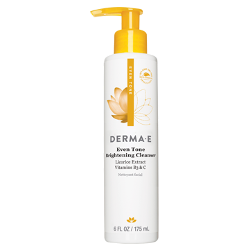 DERMA E Natural Bodycare Evenly Radiant Cleanser 6 fl oz D06032