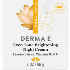 DERMA E Natural Bodycare Evenly Radiant Night Crème 2 oz D03345