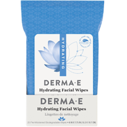 DERMA E Natural Bodycare Hydrating Facial Wipes 25 wipes D04601