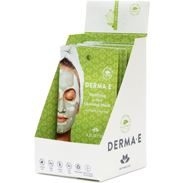 DERMA E Natural Bodycare Purifying 2 in 1 Charcoal Mask 18 Masks D12224