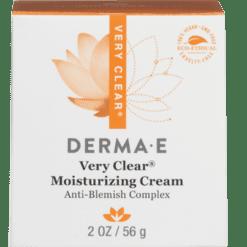 DERMA E Natural Bodycare Very Clear Moisturizer Anti Blemish 2 oz D39009