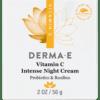 DERMA E Natural Bodycare Vitamin C Intense Night Cream 2 fl oz D03703