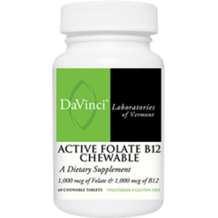 DaVinci Labs Active Folate B12 60 chews DV0841