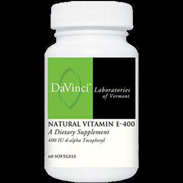 DaVinci Labs Natural Vitamin E 400 60 gels D16069