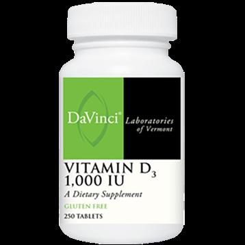 DaVinci Labs Vitamin D3 1000 IU 250 tabs VI260
