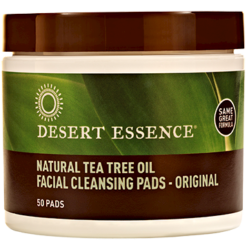 Desert Essence Natural Cleansing w Tea Tree Oil 50 pads D20406