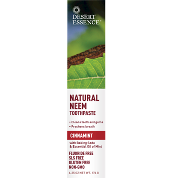 Desert Essence Natural Neem Toothpaste Cinnamint 6.25oz D34103