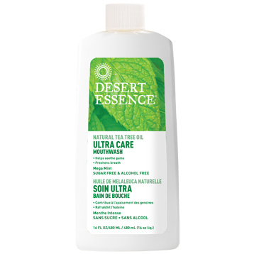 Desert Essence Tea Tree Oil Mouthwash Ultra Ca 16 fl oz D34332
