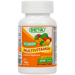 Deva Nutrition LLC Vegan 1 a Day Multivitamin 90 tabs D00027