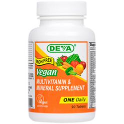 Deva Nutrition LLC Vegan 1 a Day Multvitamin Iron Free 90 tablets D00195