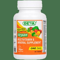 Deva Nutrition LLC Vegan 1 a Day Multvitamin Iron Free 90 tablets D00195