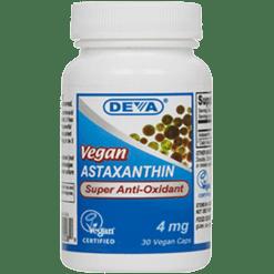 Deva Nutrition LLC Vegan Astaxanthin 4 mg 30 vegetarian capsules D00089