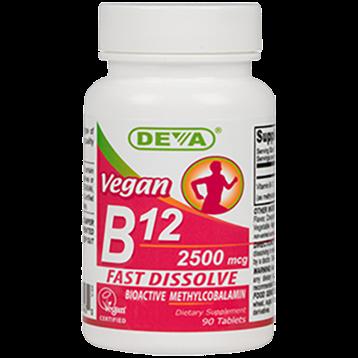 Deva Nutrition LLC Vegan B12 2500 mcg 90 tabs D0043