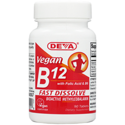 Deva Nutrition LLC Vegan B12 90 tabs D00218
