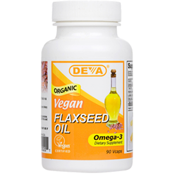 Deva Nutrition LLC Vegan Flax Seed Oil 1000 mg 90 vcaps D00201