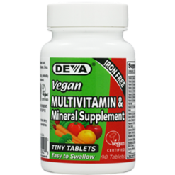 Deva Nutrition LLC Vegan Multivitamin Mineral 90 tabs D0042