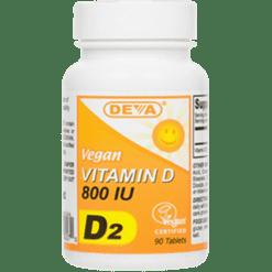 Deva Nutrition LLC Vegan Vitamin D2 2400 IU 90 tabs D00331