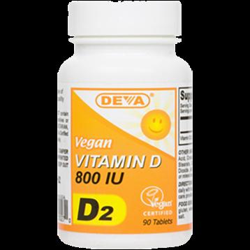 Deva Nutrition LLC Vegan Vitamin D2 800 IU 90 tabs D00028