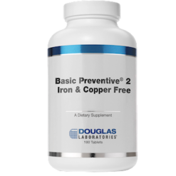 Douglas Labs Basic Preventive 2®FEampCU free 180 tabs BP2