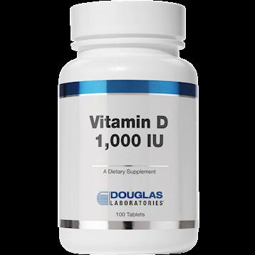 Douglas Labs Vitamin D 3 1000 IU 100 tabs DVIT2