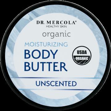 Dr. Mercola Organic Body Butter Unscented 4 oz DM0436