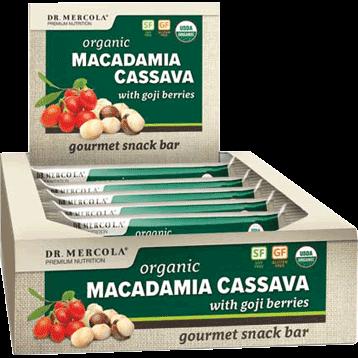 Dr. Mercola Organic Macadamia Cassava Bar 12 Bars D17206