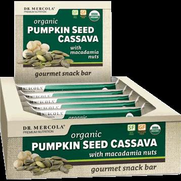 Dr. Mercola Organic Pumpkin Seed Cassava 12 Bars D17183