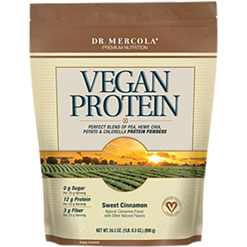 Dr. Mercola Vegan Protein Sweet Cinnamon 24.3 oz DM5370