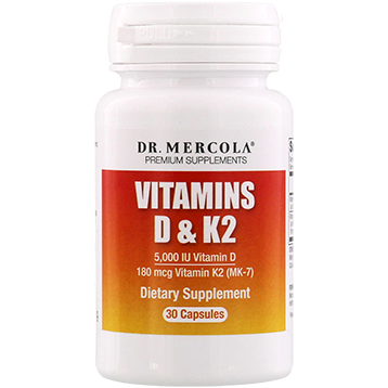Dr. Mercola Vitamins D and K2 30 caps DM6919