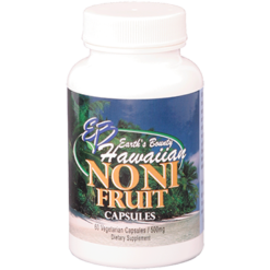 Earths Bounty Hawaiian Noni Fruit 500 mg 60 vegetarian capsules EB2010