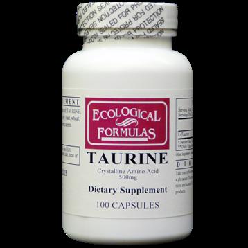 Ecological Formulas L Taurine 500 mg 100 caps TAUR5