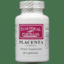 Ecological Formulas Placenta 60 caps 250 mg PLACE