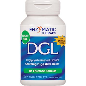 Enzymatic Therapy DGL Fructose Free Sugar Free 100 chews DGL9