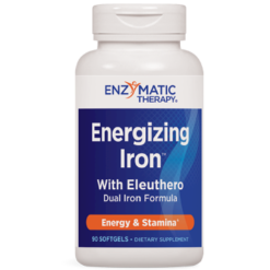 Enzymatic Therapy Energizing Iron™ with Eleuthero 90 gels ENE23
