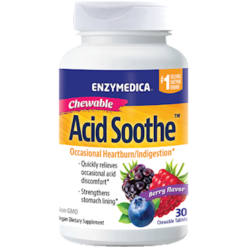 Enzymedica Acid Soothe Chewable Berry 30 tablets E70127
